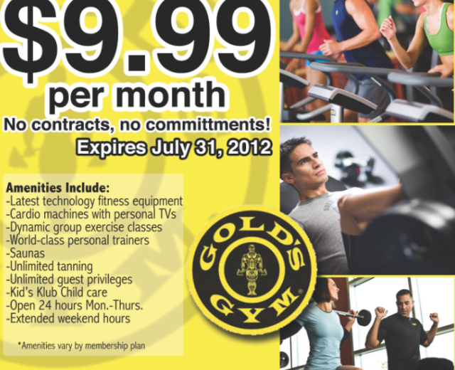 Gold's Gym Mailer Preview