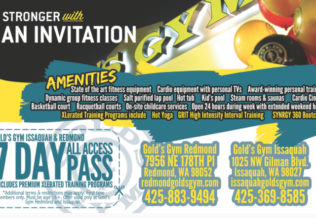 Gold's Gym Mailer Preview 2